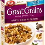 Post Great Grains Cereal Coupons