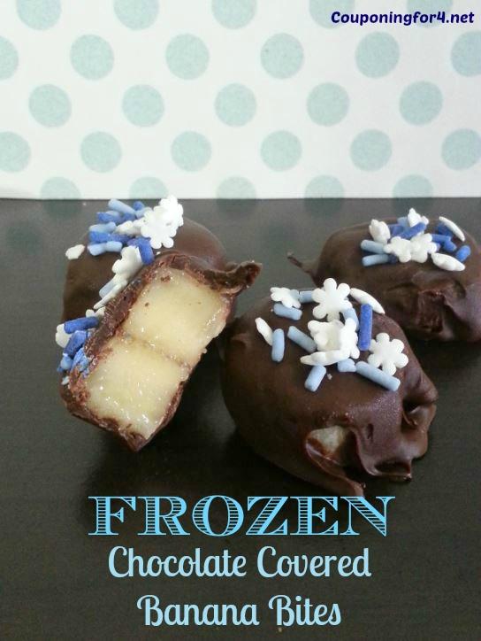 Frozen Chocolate Covered Banana Bites Recipe