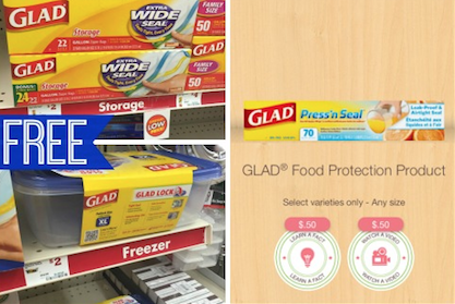 Free Glad Storage Zipper Bags Or Storage Container At Family Dollar