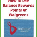 How To Use Balance Rewards Points At Walgreens