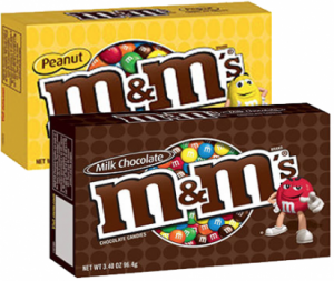 M&M's Chocolate Candies Theater Boxes