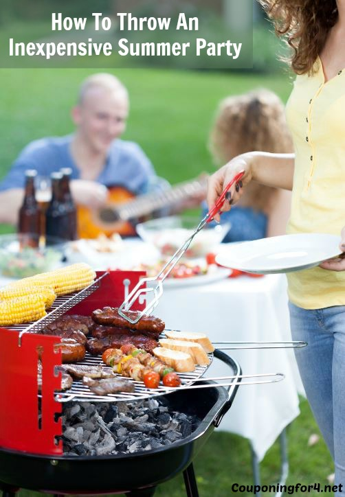 been trying to put together how to throw an inexpensive summer party